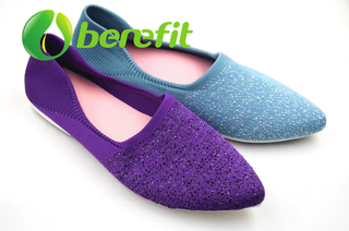 Casual Shoes for Women and Dress Casual Shoes of Modifited PVC Sole and Flyknit Upper