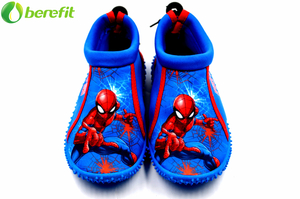 Kids Blue Durable Spider-Man Swim Shoes