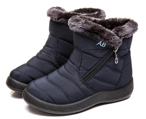 Latest Fur-lined Womens Polyester Waterproof Snow Boots