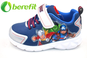 Sneakers for Children with Platform MD Sole And Breathable Blue Upper And Good for Running