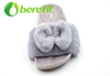 Comfortable Women's Slippers with Artificial Wool Upper Having Bowknot Design