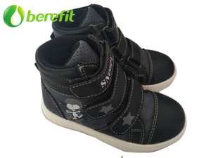 High-cut PU Toddler Walking Shoes