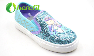 Kids Shoes Girls And Casual Shoes for Kids with Glitter PU Upper And PVC Sole