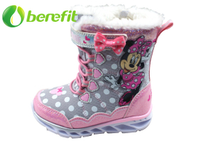 Kids Minnie Snow Boots with light