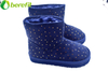 Navy Warm Girls Snow Boots