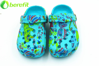 Green Girls Overall Printed EVA Clogs