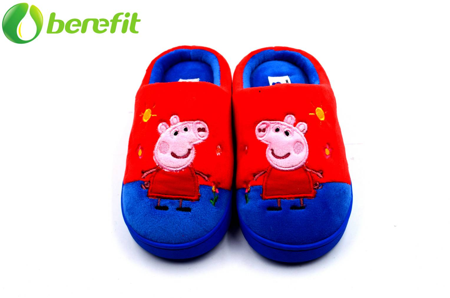 Pepper Pig Toddler Boys Toe Closed Velvet Indoor Slippers