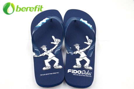 Fidodido Mens Flip Flops with Insole Embossed
