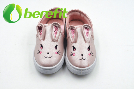 Cute Espadrille with Rabbit Design with Embroidery of Rabbit's Eye, Nose, Mouse And Mustache