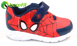 Sneaker for Kids with MD Platform Sole with Red And Blue Spiderman Design with Light on Upper