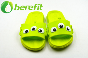 Green Boys And Girls Slide Bath Slippers