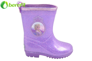 Frozen Purple Kids Rain Boots for Girl