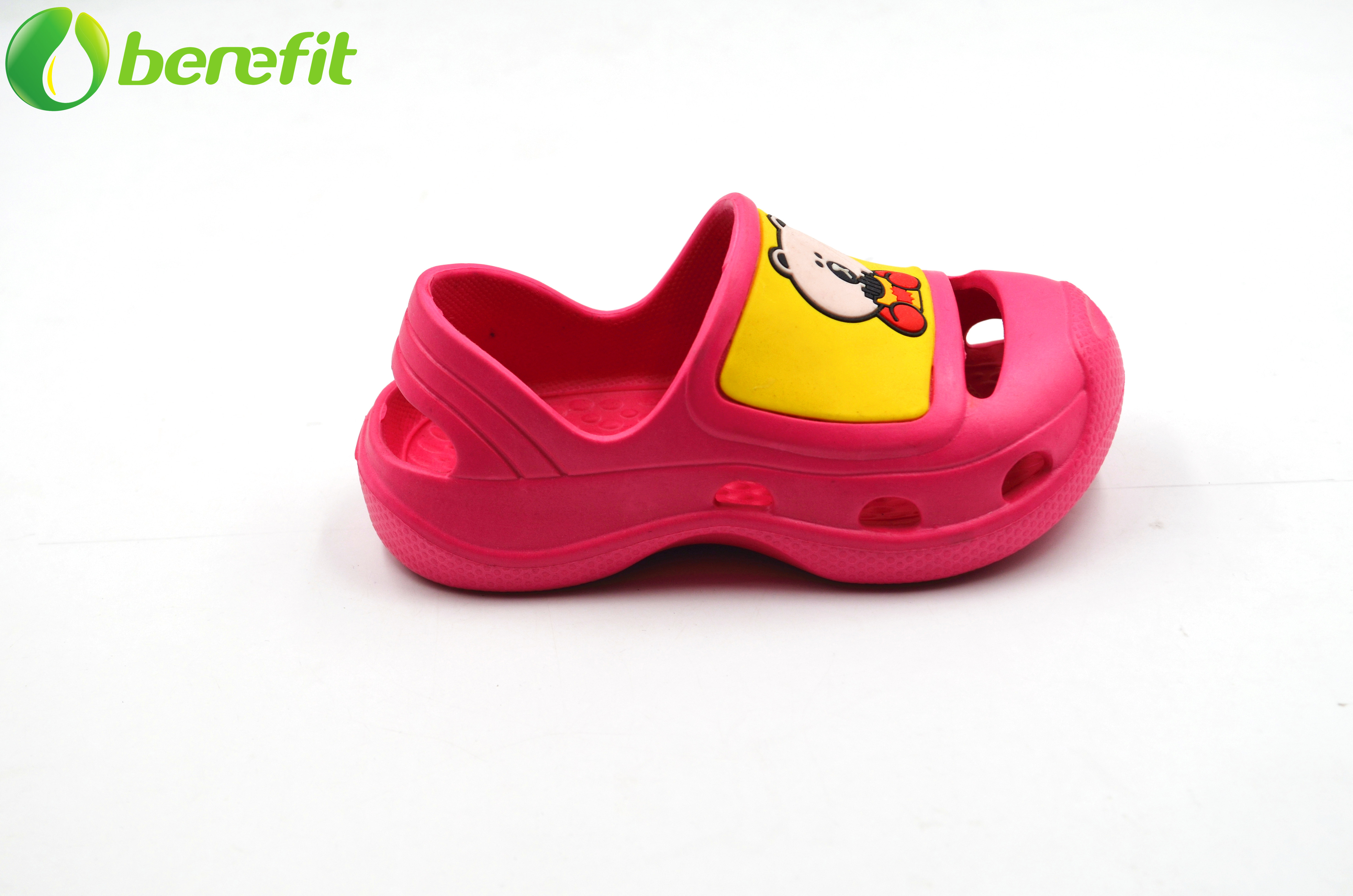 Children EVA Cartoon Closed-toe Red And Yellow Sandals