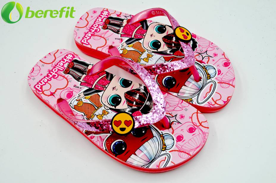 Children Character LOL Fushia Low Price Flip Flops
