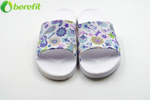 EVA Lady Flower Printed Indoor Slipper Non-slip for Home And Office Uses