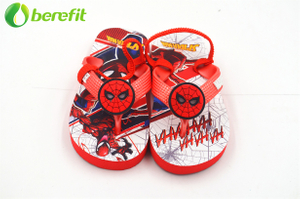 Spider Man Summer chlidren's flip flops with Lights on The Strap